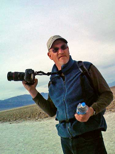 Mark in Death Valley