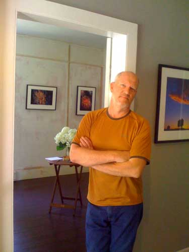 Mark in his studio and gallery